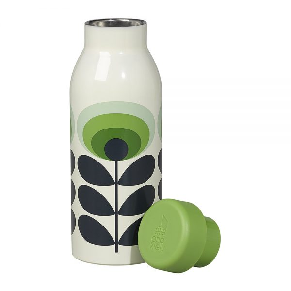 Orla Kiely Insulated 70s Oval flower bottle green.