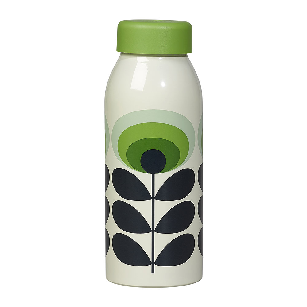 Orla Kiely Insulated 70s Oval flower bottle green.