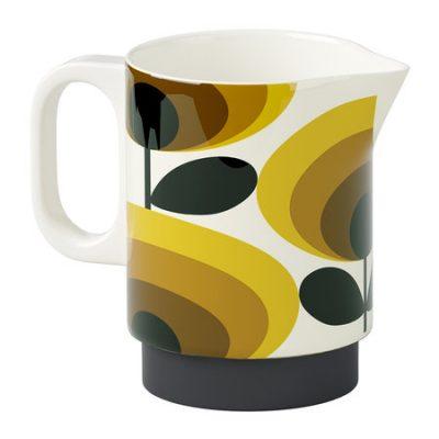 Orla Kiely Milk Jug - 70s Oval Flower Yellow