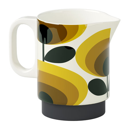 Orla Kiely Milk Jug - 70s Oval Flower Yellow