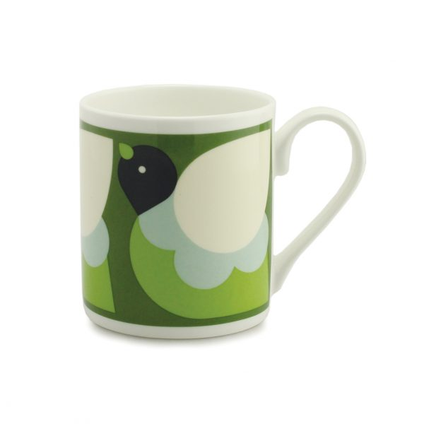 Orla Kiely Mug - Partridge Green