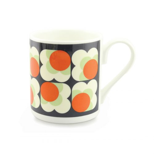 Orla Kiely Mug - Big Spot Flower Persimmon