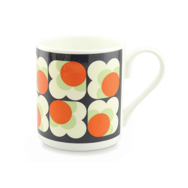 Orla Kiely Mug - Big Spot Flower Persimmon