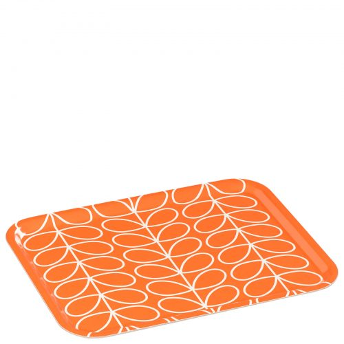 Orla Kiely Linear stem large tray. Persimmon.