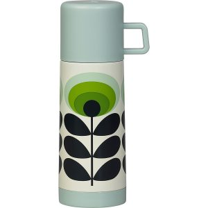 Orla Kiely oval flower flask green.