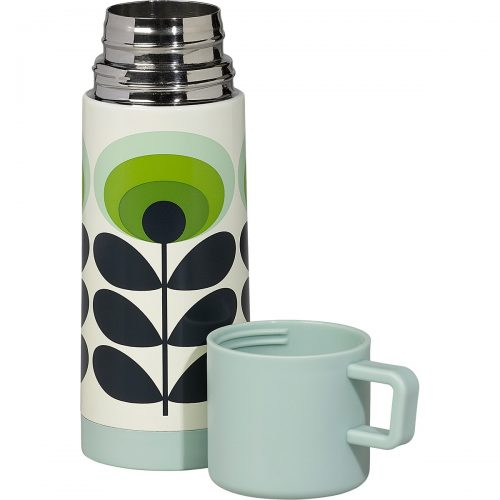 Orla Kiely oval flower flask green.