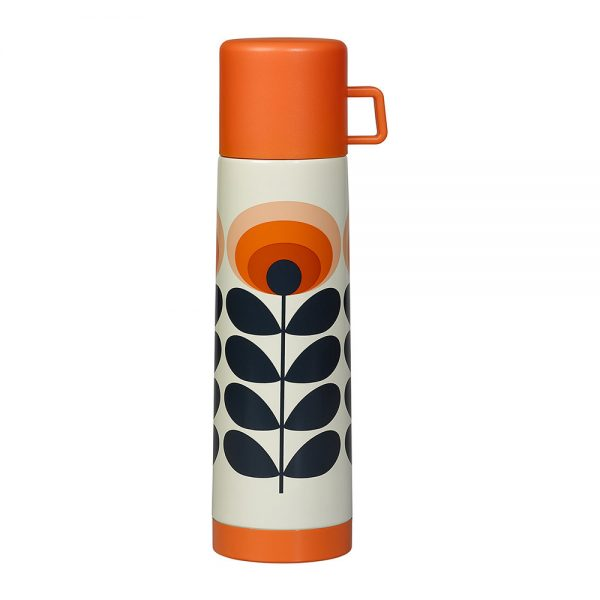 Orla kiely 70s orange flower flask in Orange
