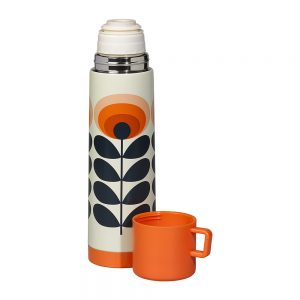 Orla kiely 70s orange flower flask in Orange