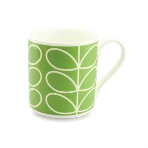 Orla Kiely Quite Big Mug - Large Stem Green