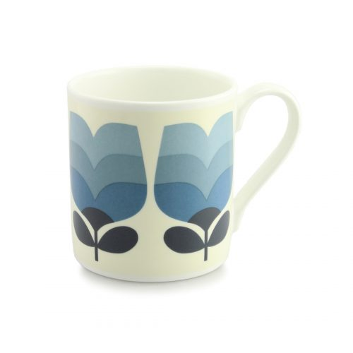 Orla Kiely Quite Big Mug - Periwinkle Tonal Striped