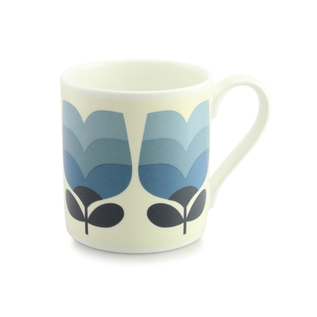 Orla Kiely Quite Big Mug - Periwinkle Tonal Striped